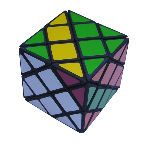 Dino Skewb very difficult custom Rubiks cube type twisty puzzle a combination of the Dino Cube and Mefferts Skewb