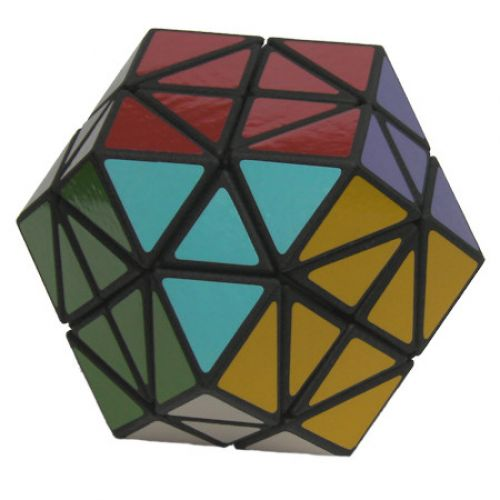 3x3x3 Rainbow Cube very difficult custom Rubiks cube type twisty puzzle a combination of the Rainbow Cube and original 3x3x3 Rubiks Cube